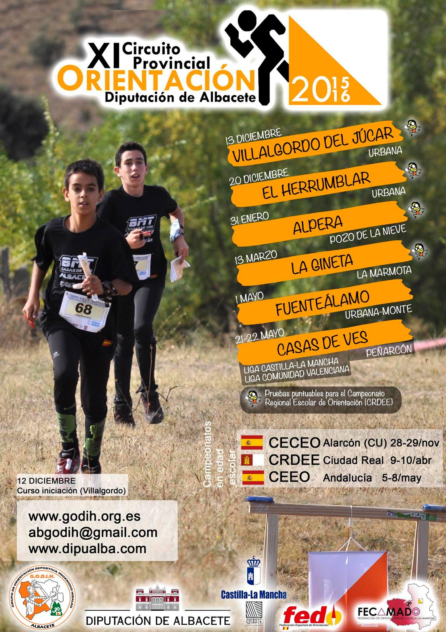 XI Circuito Provincial de Orientación Diputación de Albacete